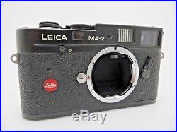 Leitz Leica M4 2 BODY Black Sucherkamera 1481196 M bayonet jc140