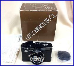Leitz Minolta vintage CL rangefinder Camera With Box-REDUCED PRICE