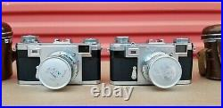 Lot of 2 Zeiss Ikon Contax With Zeiss jena Sonnar 5cm 12 And 5cm 1 1,5 Lenses