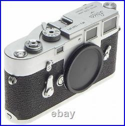 M3 LEICA 35mm VINTAGE LEITZ FILM CAMERA RANGE FINDER BLACK BODY SINGLE STROKE