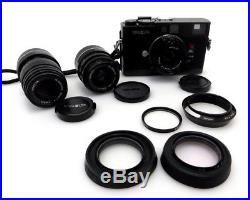 Minolta CLE mit Leica M Rokkor 40mm F2 M 90mm F4 M 28mm F2,8 AutoFlash ja136