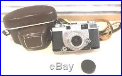 Minolta SUPER A Rangefinder 35mm Camera Chiyoko Rokkor 13.5 f=3.5cm lens NICE