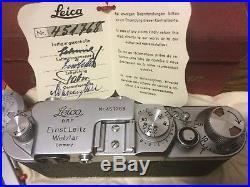 Minty LEICA IIf 1951 Vintage No. 451768 / 989571 LEITZ ELMAR LENS f=5cm 13.5