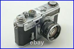 NEAR MINT Nikon SP Rangefinder withNikkor S 5cm (50mm) F1.4 From Japan 616