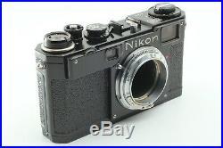NEAR MINT Rare Nikon S2 Black Repainting Vintage Rangefinder Film Camera japan
