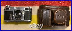 NEAR MINT Zeiss Ikon Contax II (B31697) with Sonnar F 12 5cm Lens & Original Case