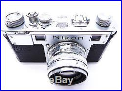 NIKON S CAMERA NIKKOR H C 5cm f2 lens case filter NICE 5692