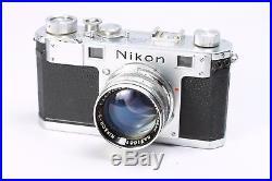 NIKON S RANGEFINDER 35MM FILM CAMERA With NIKKOR 50MM F/1.4 LENS, CASE, CAP