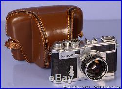 NIKON SP VINTAGE CHROME RANGEFINDER CAMERA BODY With 50MM F1.4 LENS +CASE CLEAN