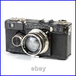 NM- Zeiss Ikon Contax I Rangefinder Camera Sonnar 50mm f2 Lens & Case Wow