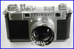 Nikon Nippon Kogaku S (M) RFDR camera #60910006 with5cm f1.4 lens, cap & case