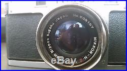 Nikon S Rangefinder Camera Package Nippon Kogaku Nikkor 1 Owner No Reserve