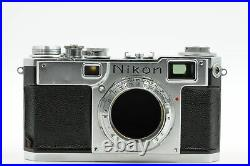 Nikon S2 Chrome Dial Nippon Kogaku Rangefinder Film Camera Body #699