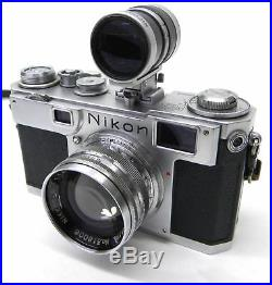 Nikon S2 Rangefinder 35mm Camera with Varifocal Viewfinder and S. C. 5cm 1.4