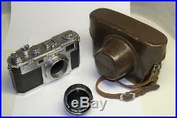 Nikon S2 Rangefinder Camera with Nikkor 5cm f1.4 Black Lens 50mm Nippon Kogaku