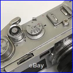 Nikon S2 Rangefinder Chrome with very clean Nikkor-S. C 5cm f/1.4 lens 50 mm Japan