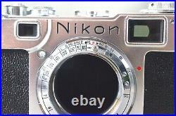 Nikon S2 rangefinder 35mm camera + Nikkor-HC 50mm F/2 Prime Lens #139