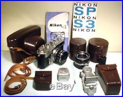 Nikon S3, 2 Nikkor Lenses, Exposure Meter, Flash & More