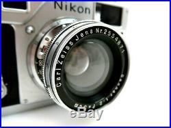 Nikon S3 6305607 Nippon Kogaku rangefinder RF Zeiss Sonnar 5 cm f2 2554871 jq028