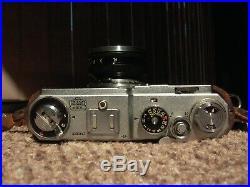 Nikon SP Nikkor-S. C Rangefinder 5cm 1.4 Ver4 Black with case bottom &Pat Pend Hood