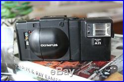 Olympus XA Rangefinder 35mm Camera with A11 Flash 2.8-22 Vintage Infinity