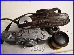 RARE! Antique German leica camera ernst leitz luftwaffen eigentum withparts pieces