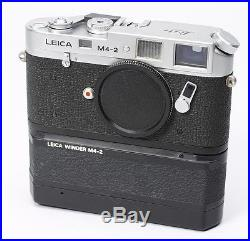 RARE - CHROME SILVER LEICA LEITZ M4-2 35MM FILM CAMERA BODY With WINDER - R9