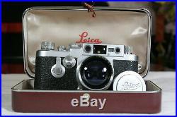 RARE-MINT-Vintage Leica IIIG rangfinder film camera & 50mm/f12 Summitar lens