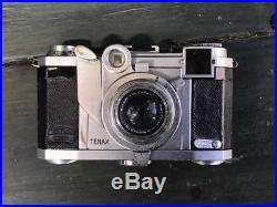 RARE ZEISS IKON Camera TENAX II Lens Sonnar 40mm F2. 24x24 rangefinder