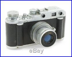 Rare Italian Rangefinder Camera Gamma Roma with Som Berthiot Anastigmat 2.8/50mm