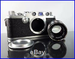 Rare Nicca 3-F with Nikkor-H f2 5cm Lens 35mm Rangefinder Orig Box Lens Cap More