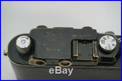 Rare Vintage 1930s 1939 Leica Black III Model F Screw Mount Rangefinder Camera