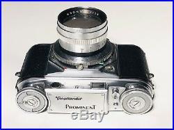 Rare! Voigtlander Prominent Camera Vintage + Nokton Lens 1.5/50