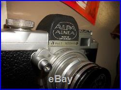 Rare Vtg. Camera Alpa Alnea Mod 5 Lens Kern-Switar 1.8/50 AR with Booklets