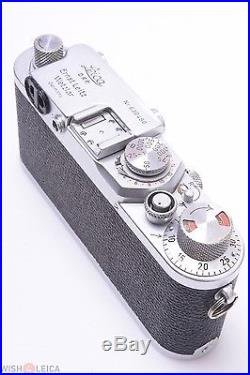 Ready To Use Leica Iiif Rangefinder 35mm Red Dial Camera 1952/53