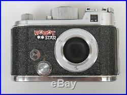 Robot Star mit Xenon 1,9/40 und Robot Metall Gegenlichtblende metal lens shade