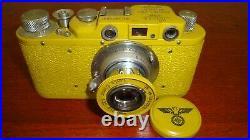 Russian Leica Copy D. R. P. ERNST LEITZ WETZLAR WW2 Vintage 35MM Camera SN357393