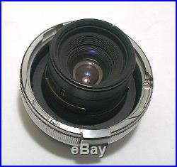 SUPERB ZEISS PLANAR 35MM 3.5 With ORIGINAL CAPS & HOOD FOR ZEISS CONTAX