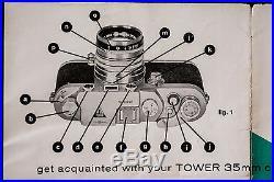 Tower/Nicca 3F Camera with Nikkor 1.4 & Manual Vintage rangefinder 1956-7