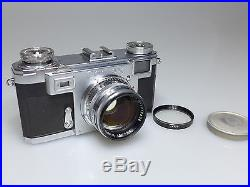 VINTAGE CONTAX RANGEFINDER CAMERA WithZEISS OPTON T SONNAR 50mm 11.5 LENS L@@K