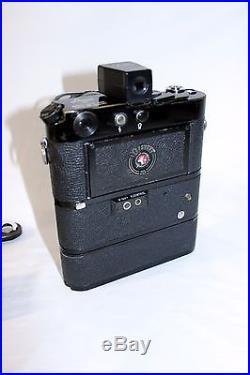 Vintage Leica M4 Camera & Elmarit Lens & Motor Winder & Battery Pack + More