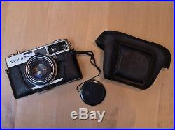 VINTAGE OLYMPUS -35 SP CAMERA 35MM with fitted leather case