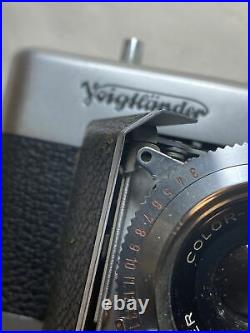 VINTAGE VOIGTLANDER VITESSA COLOR-SKOPAR CAMERA With 50MM F3.5 LENS 1954 As Is
