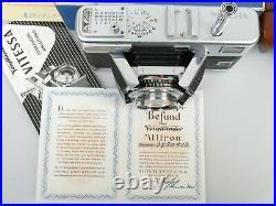 VITESSA ULTRON 2/50 + Prüfungsurkunde mit Nr. + Packzettel + Ta. + Filter + OVP