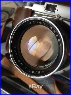 VOIGTLANDER Prominent withNOKTON f/1.5/50mm Lens Accessories, Vintage Case 1952