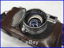 VTG Canon III 3 Rangefinder Camera Leica Screw Mount With Serenar 1.9 50mm Lens