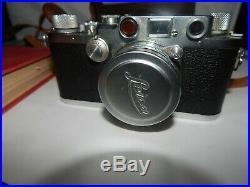 Vintage 1946/ 47 LEICA DRP IIIc Rangefinder Camera No. 415457 w lens Summitar