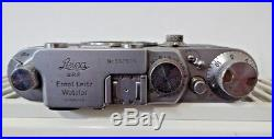 Vintage 1951 LEICA IIIF Rangefinder Camera with Summitar f=5cm 12 Lens