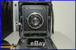 Vintage 4X5 Graflex Speed Graphic Camera withKalart Range Finder Ross London Lens