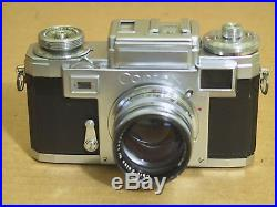 Vintage CONTAX 35mm Rangefinder Film CAMERA with Carl-Zeiss sonnar 50mm F/1.5 LENS